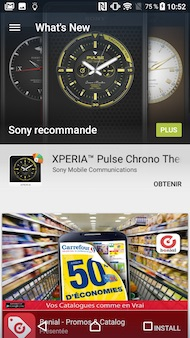 Sony Xperia X Compact interface
