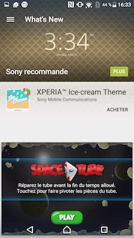 Sony Xperia X Performance interface