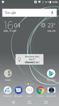 Sony Xperia XZ Premium interface