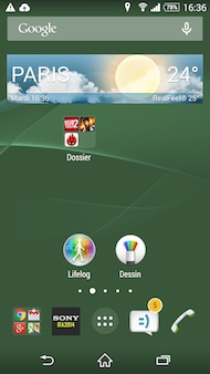 Xperia Z3 Interface