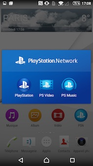 Sony Xperia Z5 interface