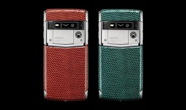 Vertu Signature Dark Scarlet et Touch Night Forest Lizard