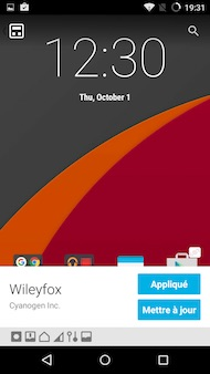 Wileyfox Swift interface
