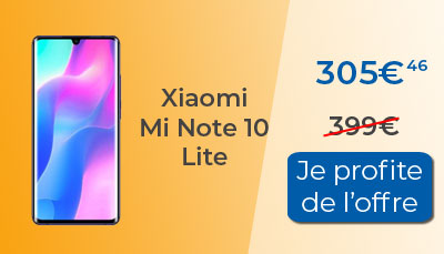 xiaomi mi note 10 lite - The Xiaomi Mi Note 10 Lite smartphone is available in promotion - LesMobiles.com