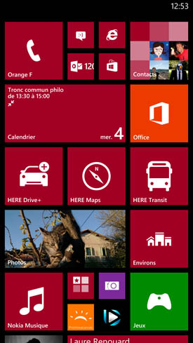 Nokia Lumia 1520 : homescreen