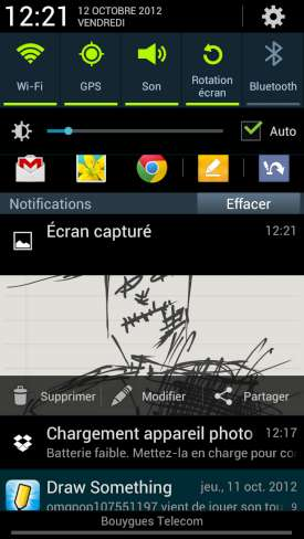 Samsung Galaxy Note 2 : Notifications