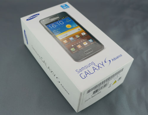 Test Samsung Galaxy S Advance : boite du smartphone