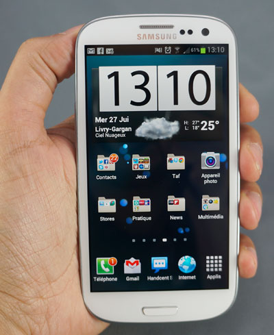 Test Samsung Galaxy S3 : prise en main