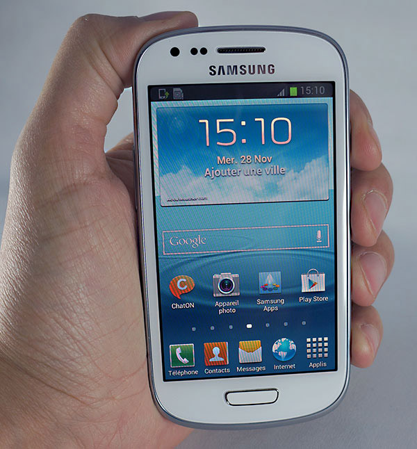 Samsung Galaxy S3 mini : prise en main