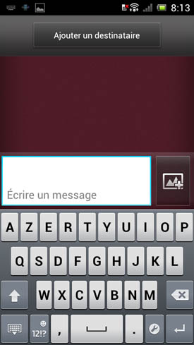 Sony Xperia J : clavier message