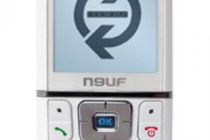 Neuf Mobile : le Twin Classic version white
