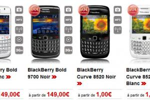 BlackBerry Bold 9700 et Curve 8520 chez Virgin Mobile