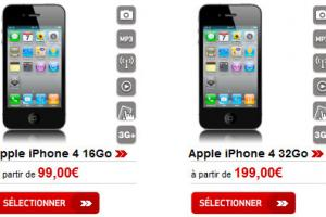 L'iPhone 4 en vente chez Virgin Mobile à partir de 99 euros