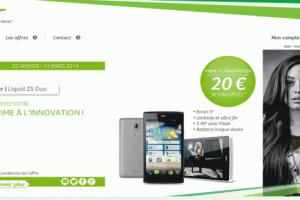 Le Liquid Z5 Duo d'Acer arrive en France à 149 euros hors subvention