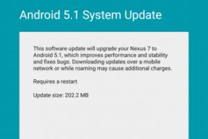 Google Nexus 7 LTE (2013) : Android 5.1 Lollipop est en route