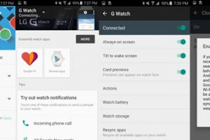 Google met à jour l'application Android Wear