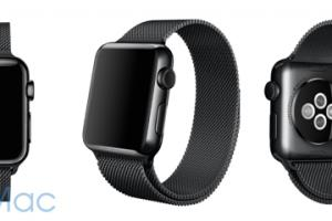 Apple Watch : bientôt un bracelet milanais noir ?