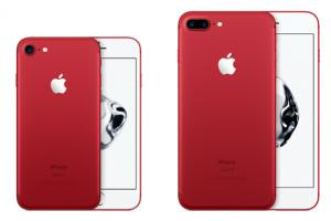 Apple intègre l'iPhone 7 et l'iPhone 7 Plus dans la gamme (Product)RED