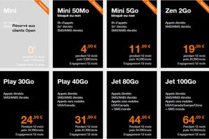 Les packs Open Fibre et les forfaits mobile Orange Mini et Zen en promotion