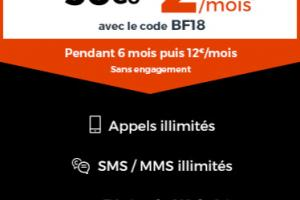 Cdiscount Mobile : le forfait 30 Go en promotion à 2,99 euros (Black Friday)