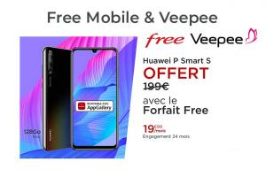 Ventes Privées Free Mobile : Huawei P Smart S offert