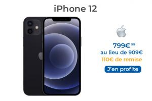 L'iPhone 12 version noire 64 Go en promo à 799€
