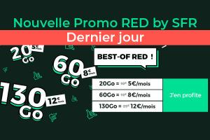 "Prolongation de 24h des 4 offres mobiles ""BEST-OF RED"" chez RED by SFR !"