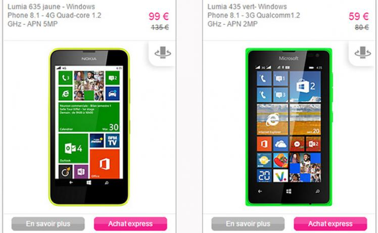 vente privee lumia 735
