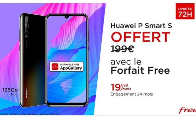 Vente privée : Free Mobile offre le Smartphone Huawei P Smart S